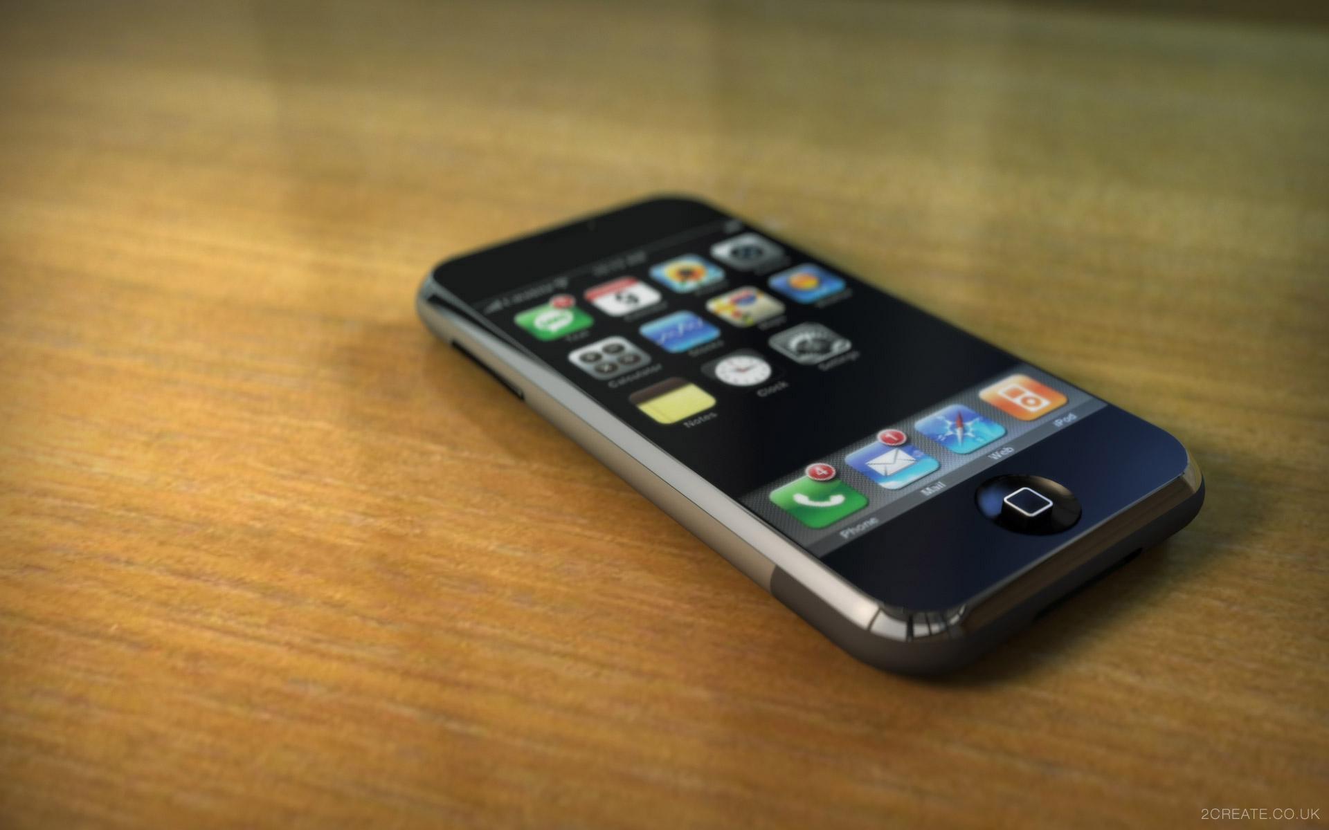 Et billed af hvordan en iphone fra apple ser ud